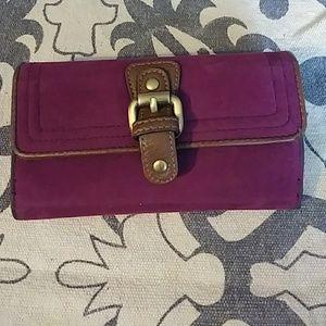 Velvet purple Jeun Bang wallet.